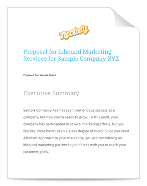 Download A Sample Inbound Marketing Proposal  Marketing Proposal Samples